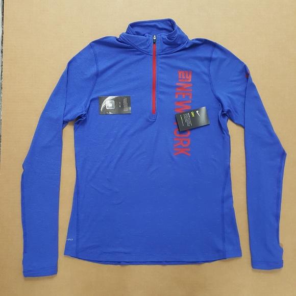 cheaper 5c921 68e2e Nike New York Giants Half-Zip Jacket Women's Sz L NWT